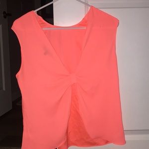 Open back neon tank top